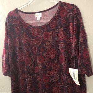 LuLaRoe Irma Floral Shirt NWT